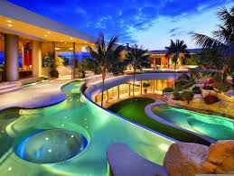 the best design of big mansion with pool for your modern house
