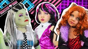 monster high doll costume makeup tutorial for halloween frankie