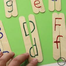 letter matching activity craft sticks simple diy and activities