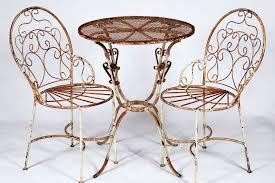 Wrought Iron Patio Furniture Vintage Latest Rod Iron Chairs With 2 Wrought Iron Ice Cream Chairs And