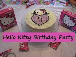 hello kitty birthday party for 4 year old youtube