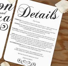 wedding inserts wedding invitation details awesome designs classic wedding