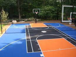 How Much To Concrete Backyard How Much Does A Full Court Outdoor Basketball Court Cost Home