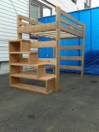 Bunk Bed With Stair Size Loft Bed With Stairs Foter