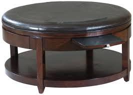 Leather Storage Ottoman With Tray Jameson Double Storage Ottoman With Tray Tables Fabric