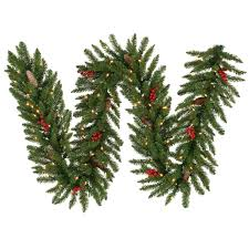 Christmas Garland With Lights by Amazon Com Vickerman 9 U0027 X 14