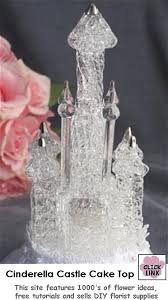 cinderella castle cake topper glass castle cake topper