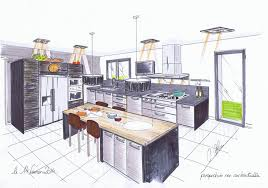 dessins de cuisine plan de cuisine cuisines 2c créations
