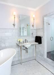 marble bathrooms ideas bathroom classical bathroom idea with carrara marble wainscoting