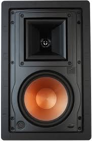 home theater in wall speakers klipsch two way in wall white loudspeaker r 3650 w ii