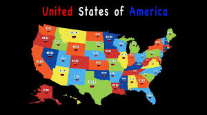 Usa Map With Capitals And States by 50 States Song For Kids50 States And Capitals For Childrenusa 50