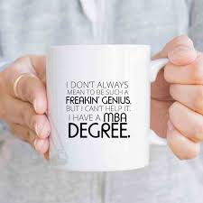 business gifts funny mba degree coffee mug christmas gift