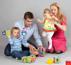 To Play With Family Family Together Stock Photo Image Of Book 17512278
