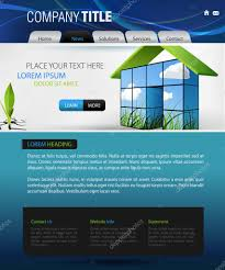 Business Web Design Homepage by Web Design Vector Template U2014 Stock Vector Winmaster 2743605