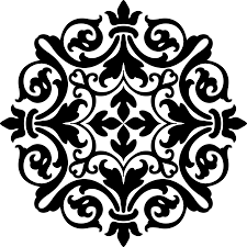 clipart damask ornament