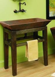 rustic bathroom sinks and vanities lexington sink stand from sierra copper the home pinterest