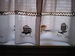 Coffee Themed Curtains Coffee Themed Kitchen Decoration Ideas Homes Architecture