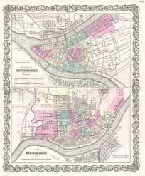 Map Of Pennsylvania Cities by File 1855 Colton Plan Or Map Of Pittsburgh Pennsylvania And