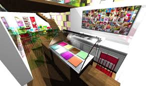 Small Shop Decoration Ideas Attractive Ideas For Ice Cream Shop Design With Colorful Ideas For