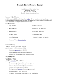 New Grad Resume Sample by Glamorous Student Resume Example Curriculum Vitae