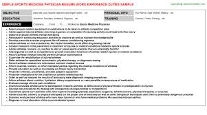 Physician Resume Examples by Sports Medicine Physician Resumes Samples