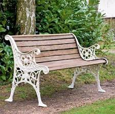 white garden bench gardening ideas
