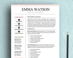 Template For Basic Resume Resume Template Etsy