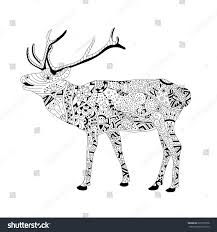 wildlife coloring book vector coloring book page adults patterned stock vector 623735528