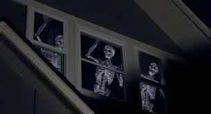 Skeleton Halloween Window Decorations by Atmosfearfx Scary Digital Projection Halloween Decorations