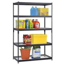 Edsal Shelving Parts by Adjustable Black Steel Shelving Units 5 Tier Review