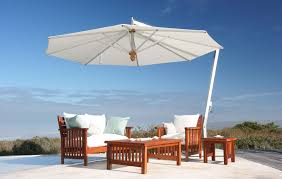 Retro Patio Umbrella by Cantilever Umbrella Woodline Pendulum Large Offset Patio Shade