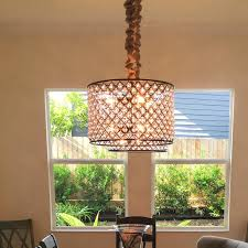 Pendant Light Drum Shade with Chandeliers Large Drum Pendant Light Fixture 5 Light Drum Shade