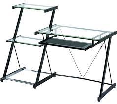 Staples Computer Desks For Home Staples Glass Computer Desk Small Canada And Metal Corner Black