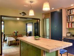 kitchen butcher block islands with seating wainscoting garage