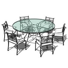 wrought iron outdoor dining table wrought iron dining set 02 3d model formfonts 3d models textures