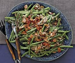 cuisine haricots verts haricots verts with mushrooms crisp bacon recipe