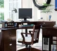 pottery barn desk with hutch bedford smart technology corner desk hutch antique white pottery