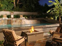 Landscape Fire Features And Fireplace Image Gallery How To Build A Gas Fire Pit Hgtv