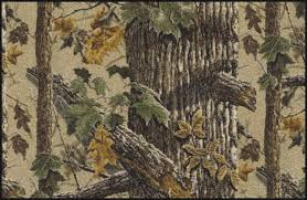 tra brown realtree tree leaves camouflage area rug