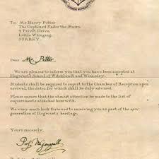proper harry potter acceptance letter u2013 letter format writing