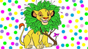 the lion king coloring simba lion colouring book page for kids