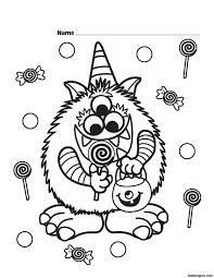 halloween coloring page kindergarten olegandreev me