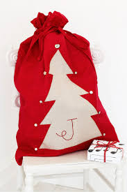 how to sew personalised christmas sacks reuse crafts and santa sack