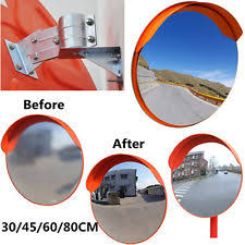 Blind Corner Mirror Mirror At Curves And Turns To Provide Safety For Drivers Where