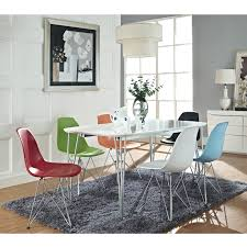 Modern Plastic Chairs Charles And Ray Eames Dining Chair With Wire Legs For The Home