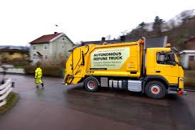volvo truck company volvo autonomous refuse truck goes to work medium duty work
