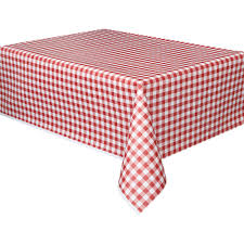 Make A Picnic Table Cover by Plastic Red Gingham Table Cover 108