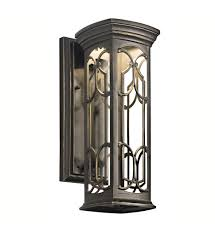 Kichler Wall Sconce Kichler 49226ozled Franceasi Olde Bronze 14 5 Inch 1 Light Led