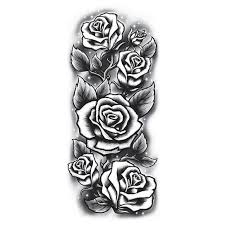 black and white roses tattoo
