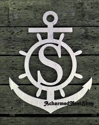 Monogram Letters Home Decor Best 25 Anchor Monogram Ideas On Pinterest Monogram Wall
